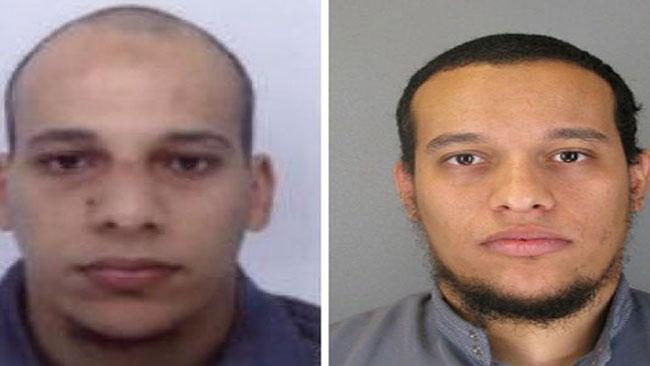 De två terrormisstänkta bröderna, Said och Cherif Kouachi. Foto: Faksimil Twitter