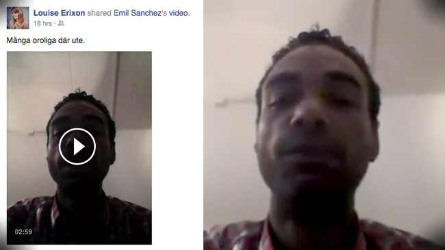 Kom tillbaka Jimmie, uppmanar Emil Sanchez på Facebook. Foto: Faksimil Facebook / Youtube