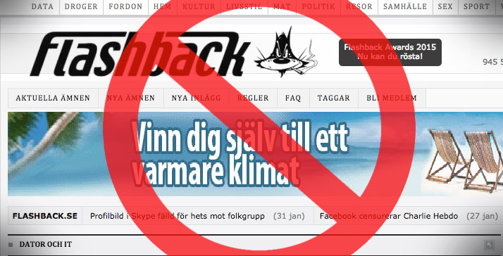 Nu diskuteras lagskärpningar om vad man får skriva på internet efter Aftonbladets granskande av Flashback. Bilden är ett montage. Foto: Faksimil flashback.org