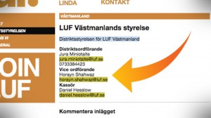 """När Nyheter Idag berättar vad som stod på LUFs egen hemsida i morse kallas vi för """"nassesajt"""" av förbundsordföranden Linda Nordlund. Foto: Faksimil luf.se"""