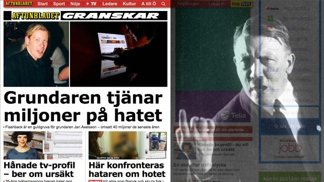 Nu dras det paralleller till Hitler-tyskland och Gestapo efter att Aftonbladet granskar flashback Forum. Bilden är ett montage. Foto: Faksimil aftonbladet.se / Wikimedia Commons
