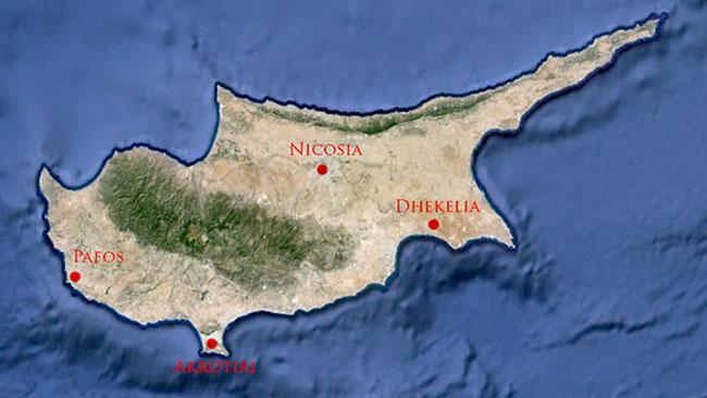 Cypern. Faksimil: Google Earth