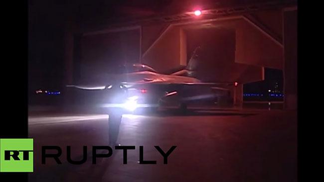 Egypten använde sig av amerikanska F-16 plan under operationen mot islamisterna i Libyen. Foto: RT Ruptly