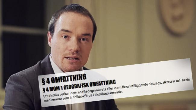 Riksdagsledamoten Kent Ekeroth. Foto: Faksimil Youtube