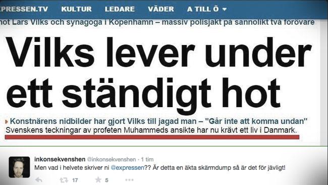 På twitter hävdas att det är en äkta skärmdump från expressen.se Foto: Twitter