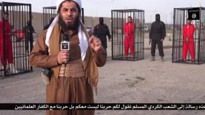 Fångar som snart ska avrättas av IS är inlåsta i metallburar.