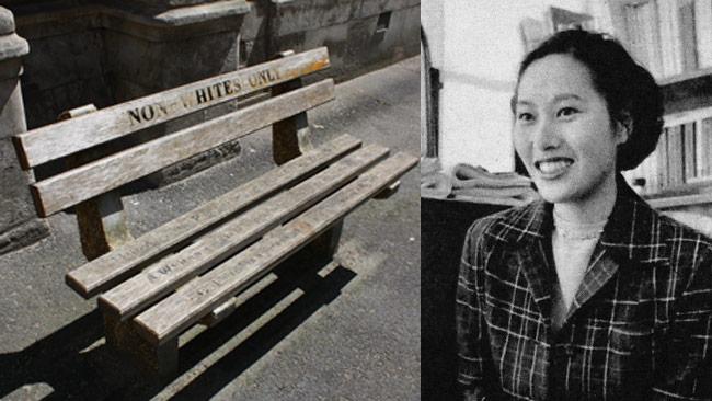 Ayako Sono är inte främmande för apartheid. Bilden är ett montage. Foto: Wikimedia Commons