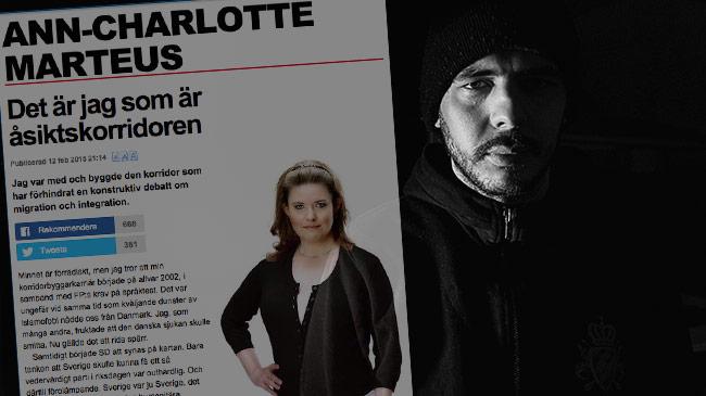 Ann-Charlotte Marteus får mothugg. Bilden är ett montage. Foto: Faksimil expressen.se / Nyheter Idag