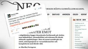 Mathias Wåg menar att magasinet Neo sprider antisemitism. Bilden är ett montage. Foto: Faksimil magasinetneo.se / twitter.com