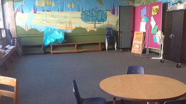 Kanske ett av skolans blivande klassrum. Foto: Faksimil Facebook