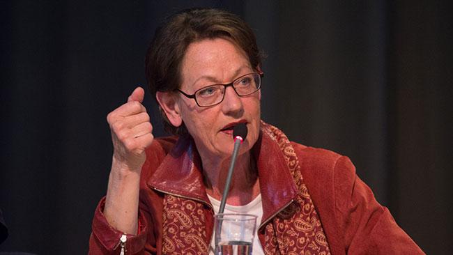 Feministiskt Initiativs ena partiledare, Gudrun Schyman. Foto: Elisabeth Ohlson Wallin