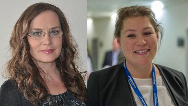 Hahnes mamma Monica Tedestam-Berglöw (t.v) och Maria Danielsson (t.h). Bilden är ett montage. Foto: sverigedemokraterna.se / Sven Pernils
