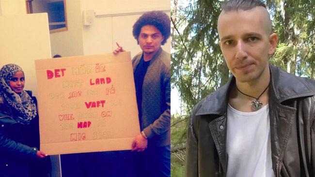 """Protester för att man kan välja bort slöja. """"Arga Blatten"""" håller inte med. Foto: Facebook / Privat"""