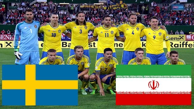 Sveriges landslag i fotboll. Bilden är ett fotomontage / Wikipedia