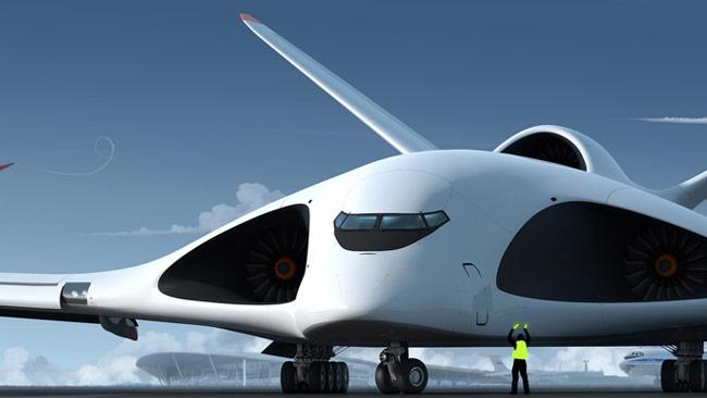 Designförslag från Alexey Komarov på nya flygplanet PAK TA