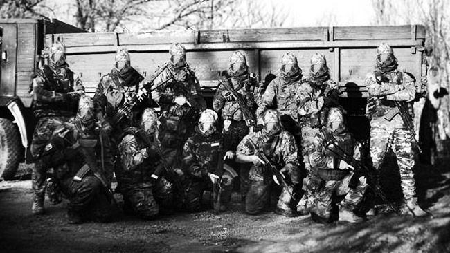 Här ser vi den militära grupp där Skillt ingår. Foto: Privat