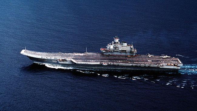 Den ryska flottans flaggskepp, Admiral Kuznetsov. Foto: Wikipedia