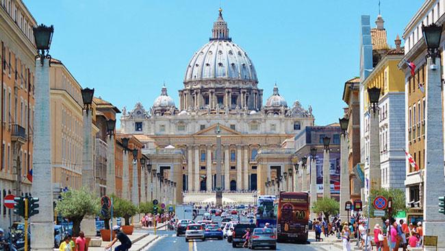 Peterskyrkan i Vatikanstaten. Foto: Christoffer Jonsson / Nyheter Idag