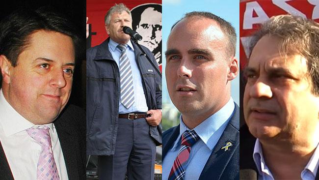 Griffin, Voigt, Jacobsson och Fiore. Bilden är ett fotomontage. Wikipedia / Youtube