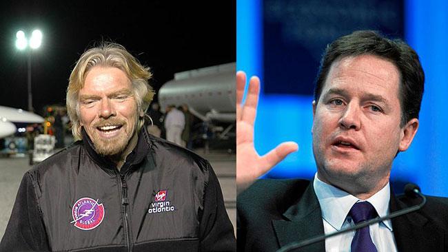 Richard Branson och Nick Clegg skriver att kriget mot drogerna misslyckats. Bilden är ett montage / Faksimil Wikipedia