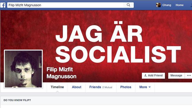 """Musikrecensenten Filip """"Feyflipp"""" Magnusson ser rött när han skriver om Rövballebandet – inlägget fick stor spridning på Facebook. Foto: Faksimil Facebook"""