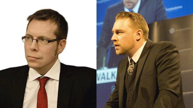 Daniel Friberg till vänster och Mattias Karlsson till höger. Foto: Privat / Nyheter Idag