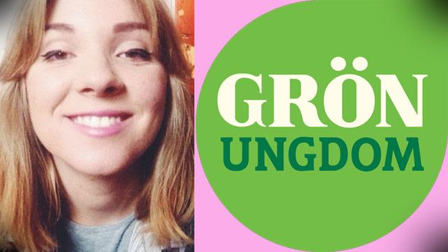 """Magda Rasmusson är engagerad i Grön Ungdom och förklarar vad """"progressiv könskvotering"""" är. Bilden är ett montage. Foto: Twitter / gronungdom.se"""