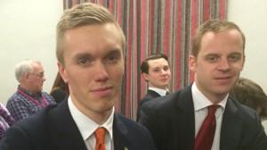 SDU-topparna William Hahne och Gustav Kasselstrand. Foto: Sven Pernils