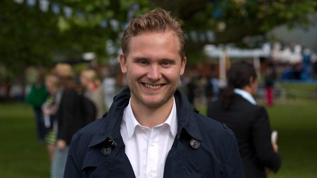 Henrik Vinge, presschef i Sverigedemokraterna. Foto: Chang Frick / Nyheter Idag