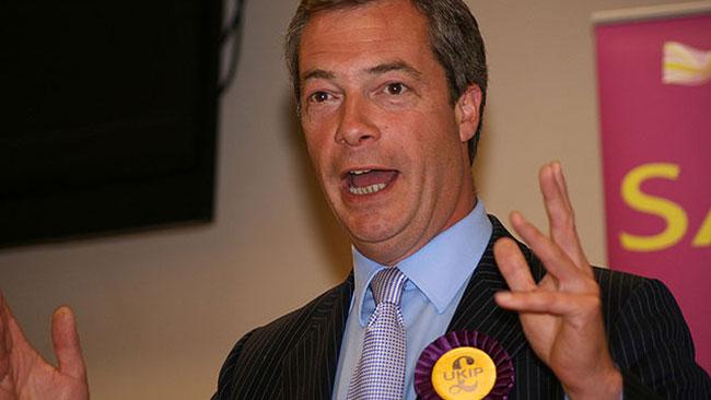 Nigel Farage tycker att arbetsgivaren själv ska få bestämma. Foto: Wikimedia Commons