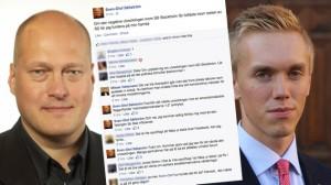 Sven-Olof Sällström och William Hahne. Foto: Riksdagen / Facebook / Pressbild sdu.nu