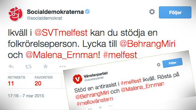 Socialisterna beter sig som socialister och Thomas Gür rasar. Bilden är ett montage. Foto: Faksimil Twitter