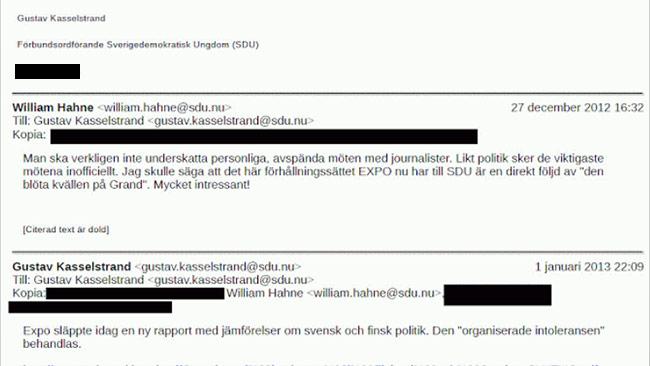 Hahne instämmer i att träffen med Expo var lyckad