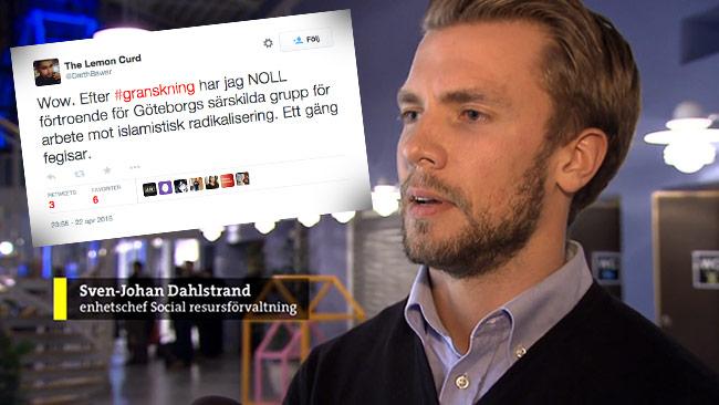Den liberale debattören Bawar Ismail är kritisk mot Göteborgs stad. Bilden är ett montage. Foto: Faksimil svtplay.se / Twitter
