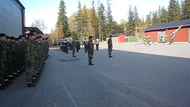 Hemvärnets musikkår kan nu få delta under nationaldagsfirandet i Umeå. Foto: Faksimil Youtube