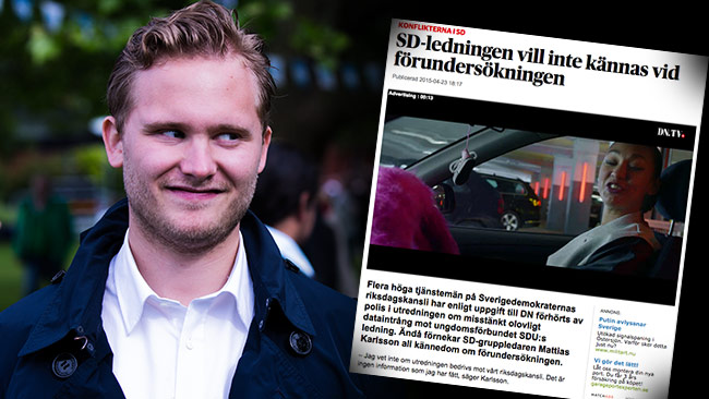Henrik Vinge är minst sagt skeptisk till Dagens Nyheter, som i sin tur står på sig. Foto: Faksimil dn.se / Nyheter Idag