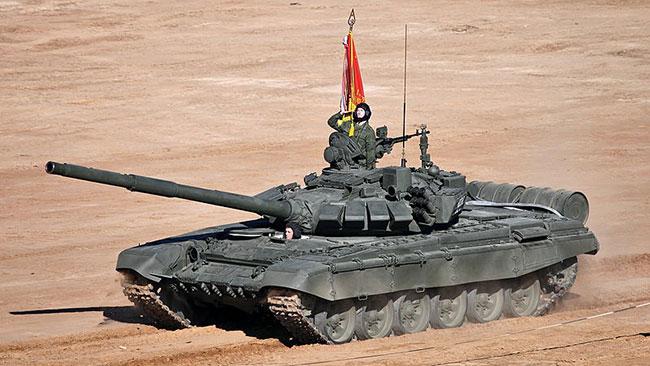 T-72B3 under övning. Foto: Wikipedia