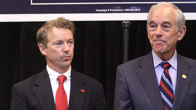 Rand Paul med pappa Ron. Foto: Wikipedia