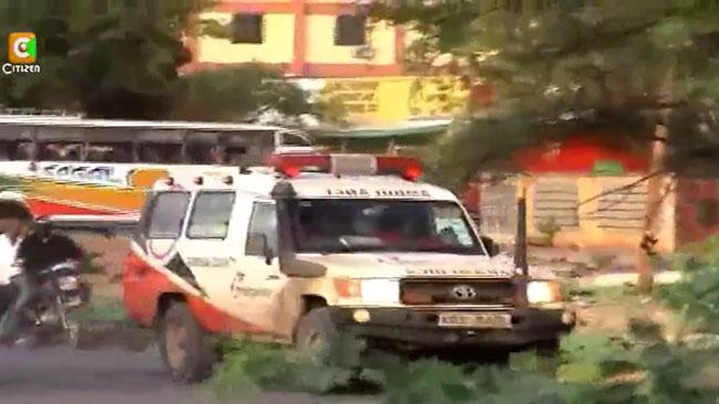 Ett utryckningsfordon i Garissa. Foto: Faksimil Youtube
