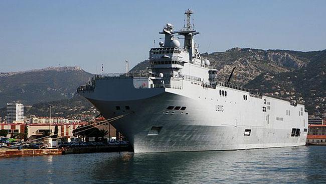 Ett amfibiefartyg av den typ som Försvarsmakten nu köper av Frankrike. Foto: Wikipedia
