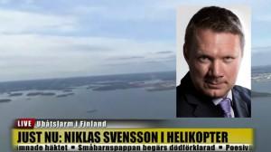 Ingen svensk journalist är lika modig som Niklas Svensson. Bilden är ett montage.