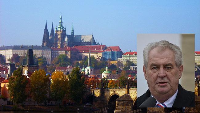 Pragborgen har varit hem för både kungar och kejsare innan Miloš Zeman flyttade in. Bilden är ett fotomontage.