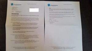 Här är brevet som Christian Westling fått från partiets medlemsutskott. Foto: Privat