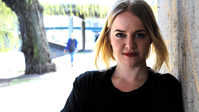 Hanna Cederin är ny ordförande i Ung Vänster. Foto: Pressbild ungvanster.se