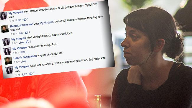 Mycket pekar på att My Vingren i själva verket är liberal. Foto: Nyheter Idag / Faksimil Facebook