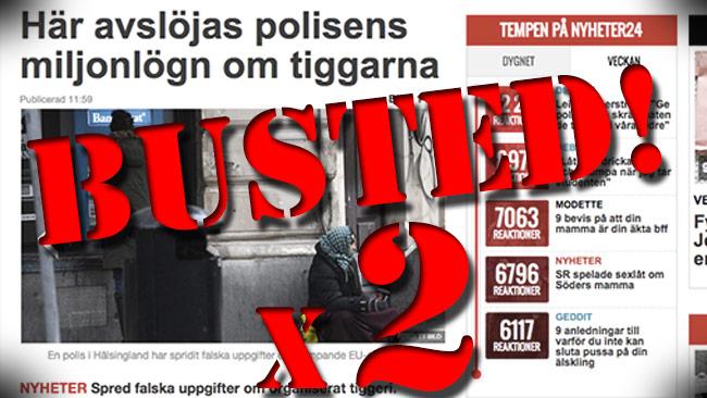 Nu kan vi visa att hela Nyheter24:as artikel faller platt som en pannkaka. Bilden är ett montage.