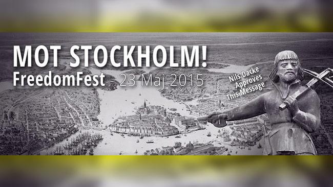 Den 23:e maj 2015 äger Freedomfest rum i Stockholm!