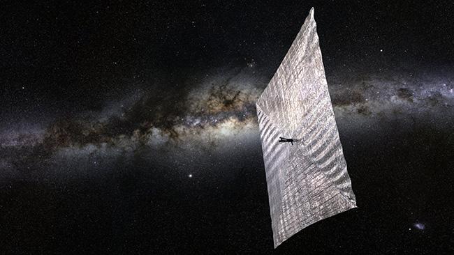 Så här kan det snart se ut i rymden. Bild: Planetary Society