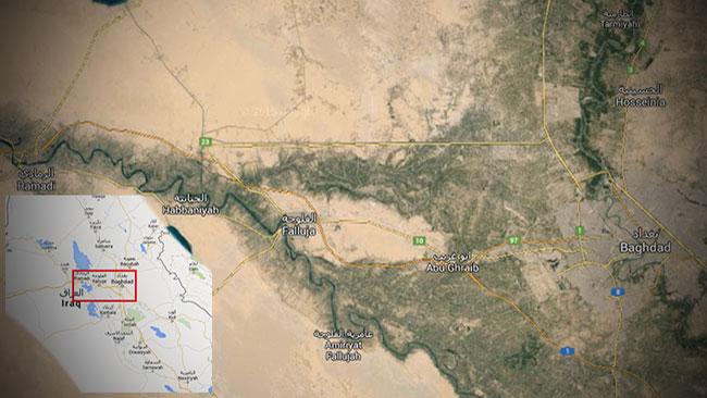 Avstånden mellan Bagdad och al-Ramadi kan liknas med avståndet mellan Stockholm och Flen.