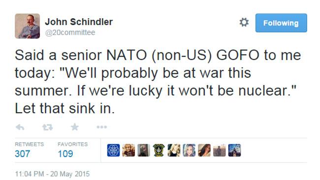 Domedagsprofeten John Schindlers tweet har fått många att fundera. Foto: Faksimil Twitter